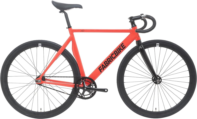 FabricBike Air- Bicicleta Fixie, piñon Fijo, Fixed Gear, Single Speed, Cuadro Aluminio, 8.5 kg Aprox (Air 3K Red, M-52): Amazon.es: Deportes y aire libre