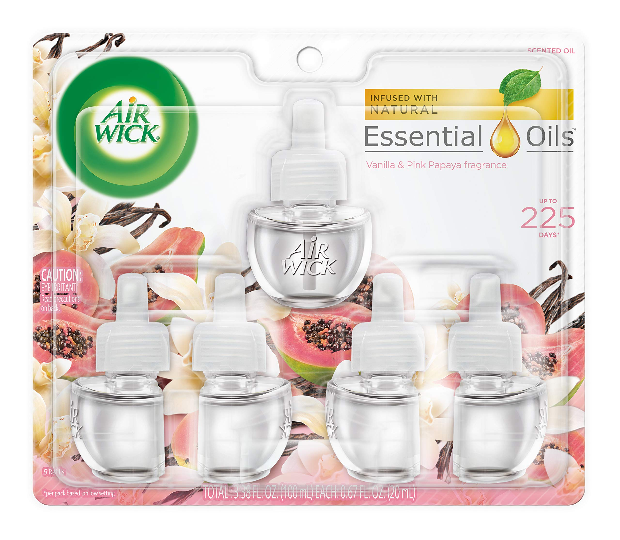 Air Wick Scented Oil Refills, Vanilla & Pink Papaya, 5 Count by Air Wick (Image #1)