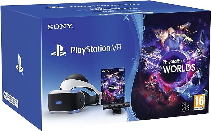 PS VR V2 + Camera + VR Worlds (Voucher) - PlayStation 4 [Bundle ...