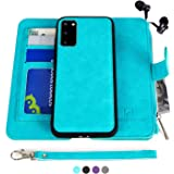 MODOS LOGICOS Samsung Galaxy S20 Case, [Detachable Wallet Folio][2 in 1][Zipper Cash Storage][Up to 14 Card Slots 1 Photo Win