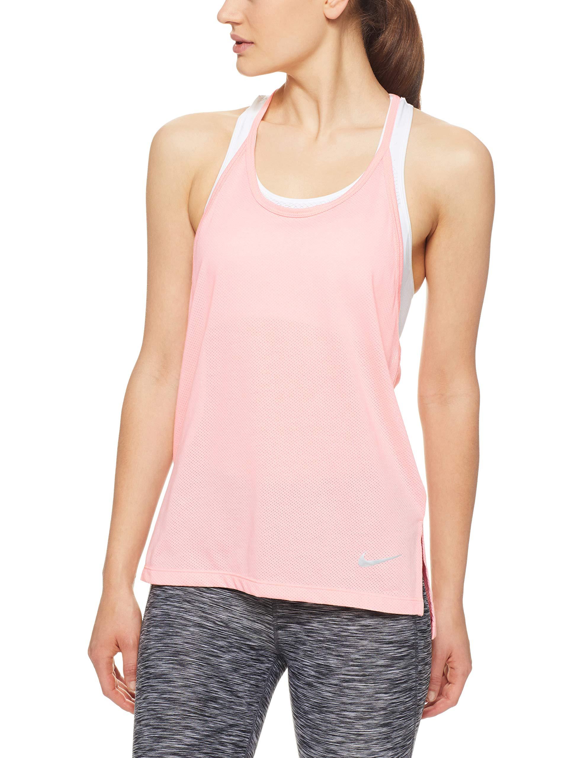 Nike Women's Tailwind Cool LX Tank Top Storm Pink Large