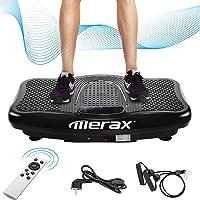 Merax Vibrationsplatte Vibrationstrainer Profi,2D Wipp Vibration + Bluetooth Musik inkl. Lautsprecher, Extra große Fläche & Kraftvoller Motor & Trainingsbänder & Fernbedienung im Fitnessgerät