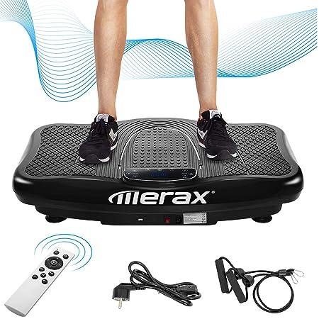 Merax Vibrationsplatte Vibrationstrainer Profi,2D Wipp Vibration + Bluetooth Musik inkl. Lautsprecher, Extra große Fläche & K