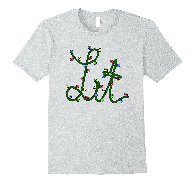 73016e6600a81 Let's Get Lit X-Mas Lights Christmas Holiday T-Shirt-ANZ ⋆ Anztshirt