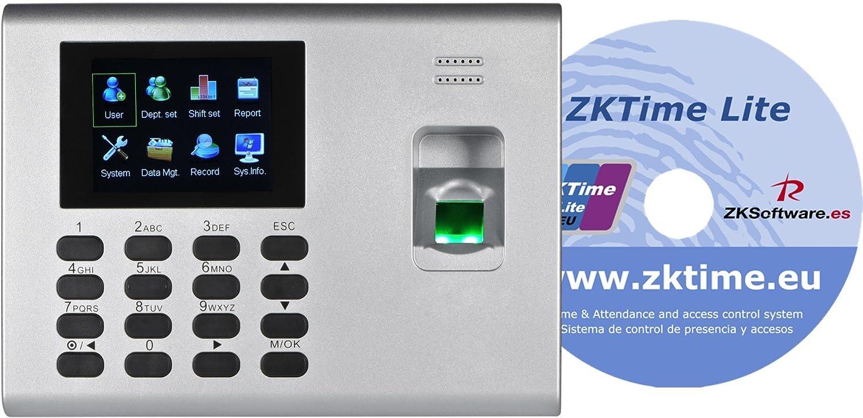 Reloj de fichar UA130/UA140 con programa de gestión ZKTime Lite (Blanco): Amazon.es: Industria, empresas y ciencia
