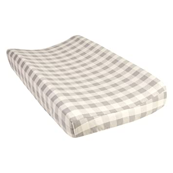 Amazon Com Trend Lab Gray And Cream Buffalo Check Deluxe Flannel Changing Pad Cover Baby