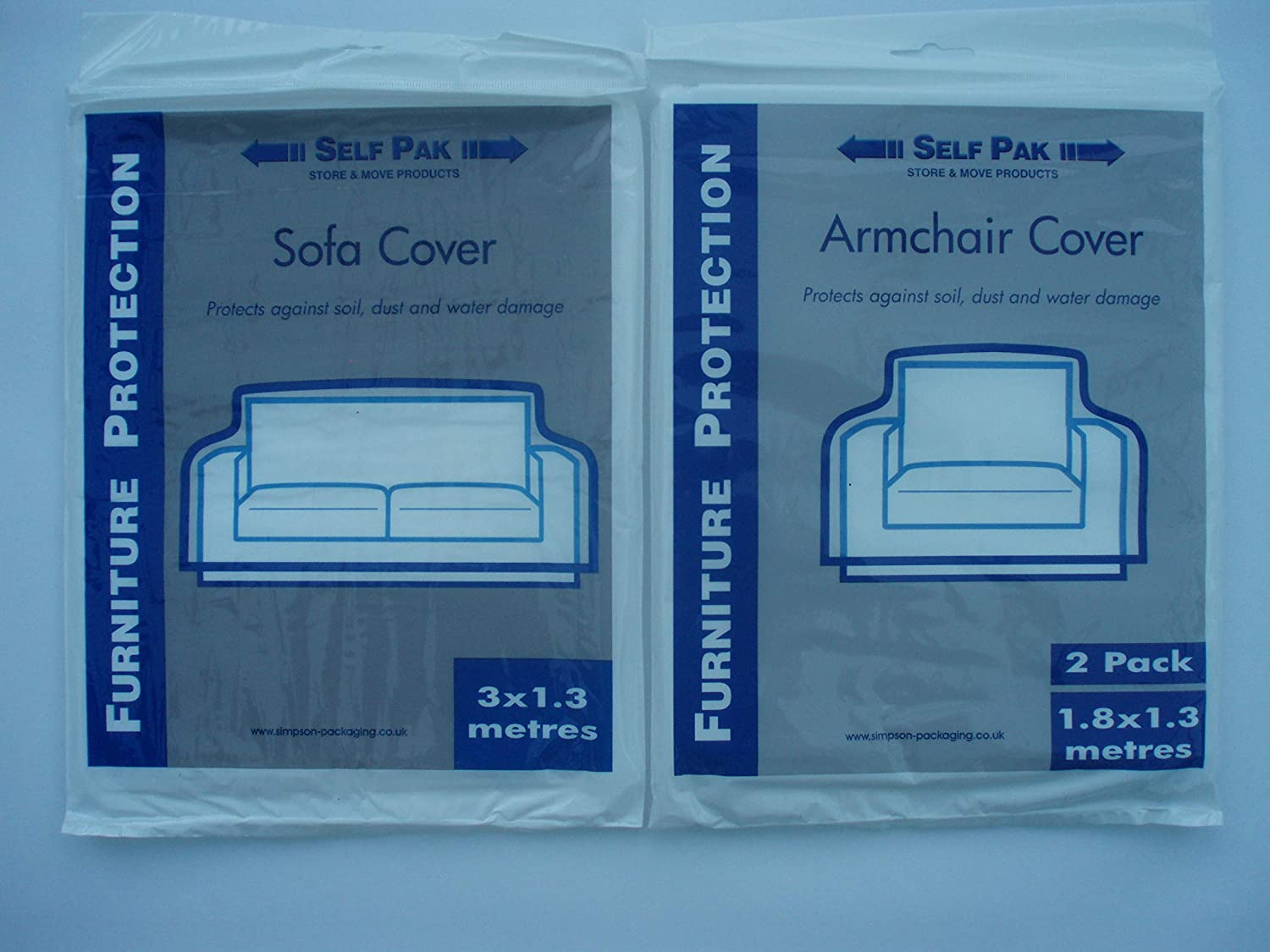 NEW Chair covers for moving /& storage protection from dust etc package of 2