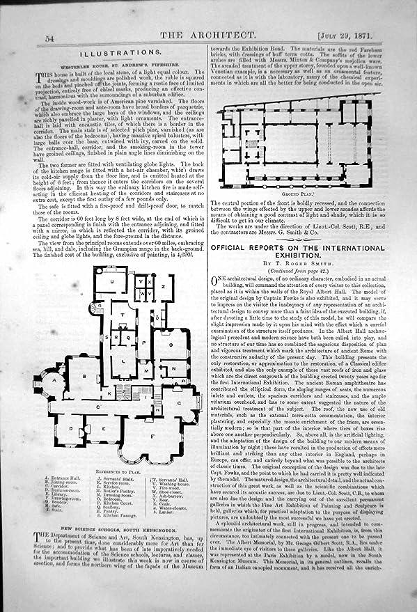 Westerlee House St Andrews Plan Science Schools S Kensington