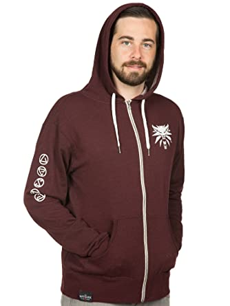 71826405110 JINX The Witcher 3 Men s Arsenal Zip-Up Hoodie at Amazon Men s Clothing  store
