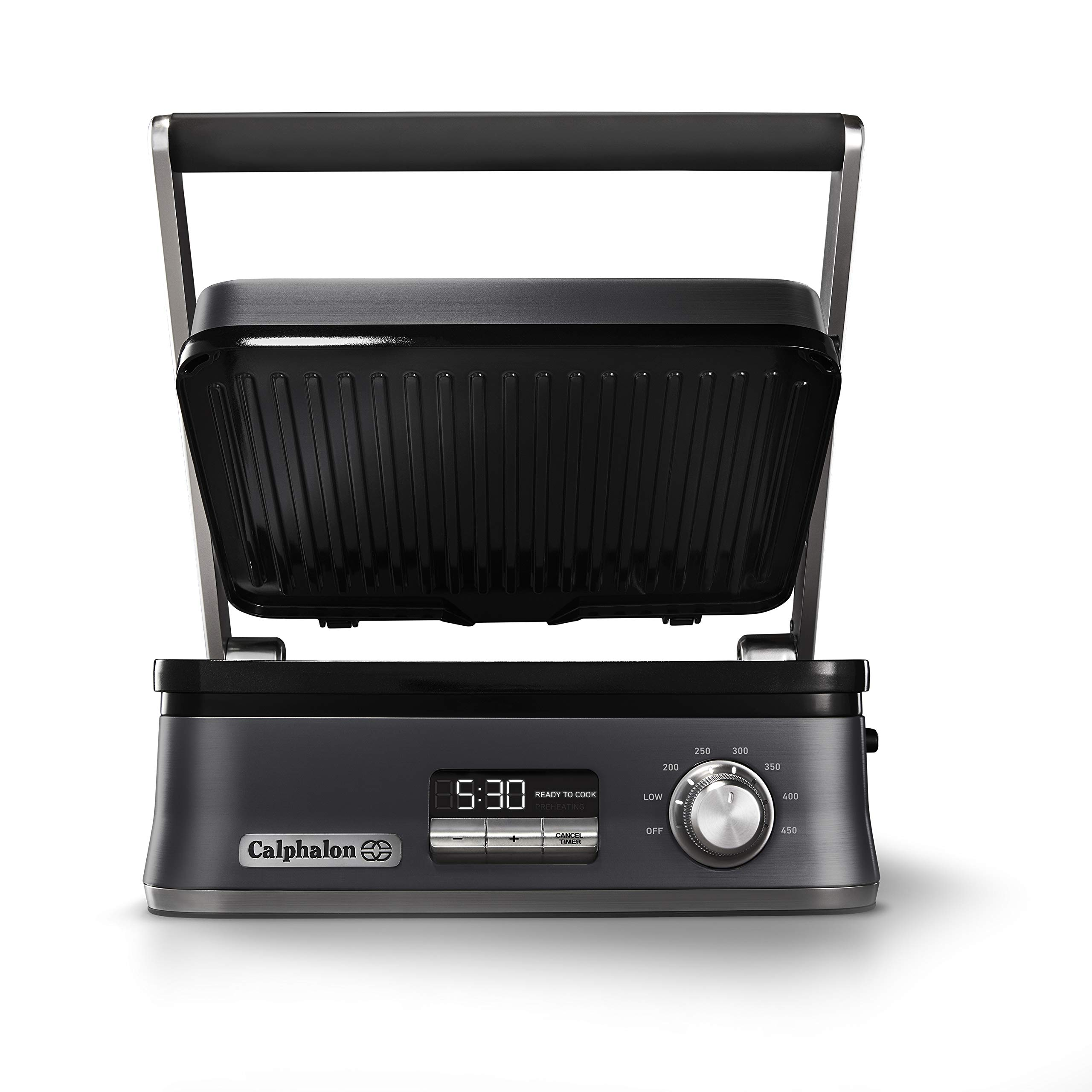 Calphalon Even Sear Indoor Electric Multi-Grill, Dark Stainless Steel by Calphalon