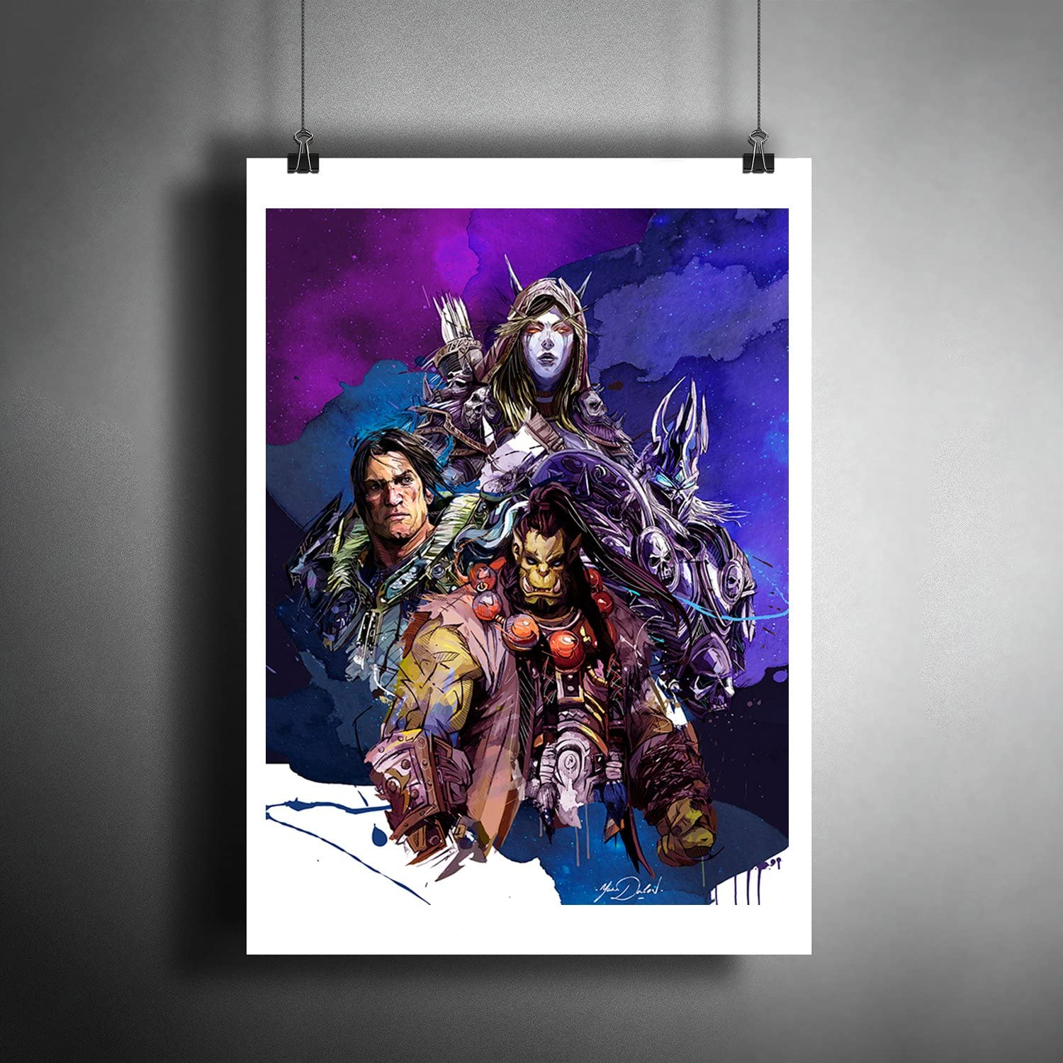 Amazon Com World Of Warcraft 2 Art Poster Photo Print Decor A3 Size 297 420 Mm 11 7 16 5 Inches Posters Prints