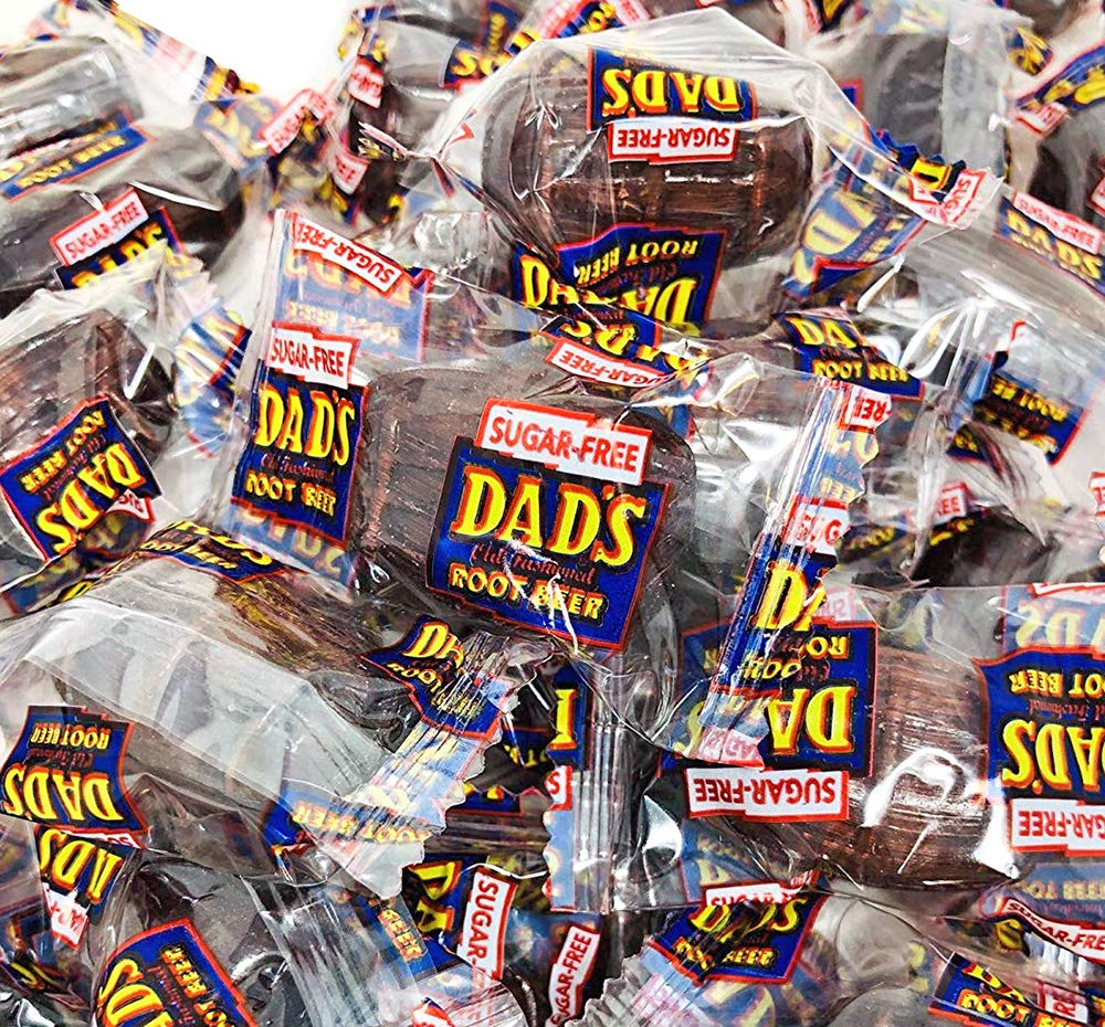 No Sugar Dad's Root Beer Barrels | Sugar Free Wrapped Hard Candy Bulk | 4 pounds by SweetGourmet