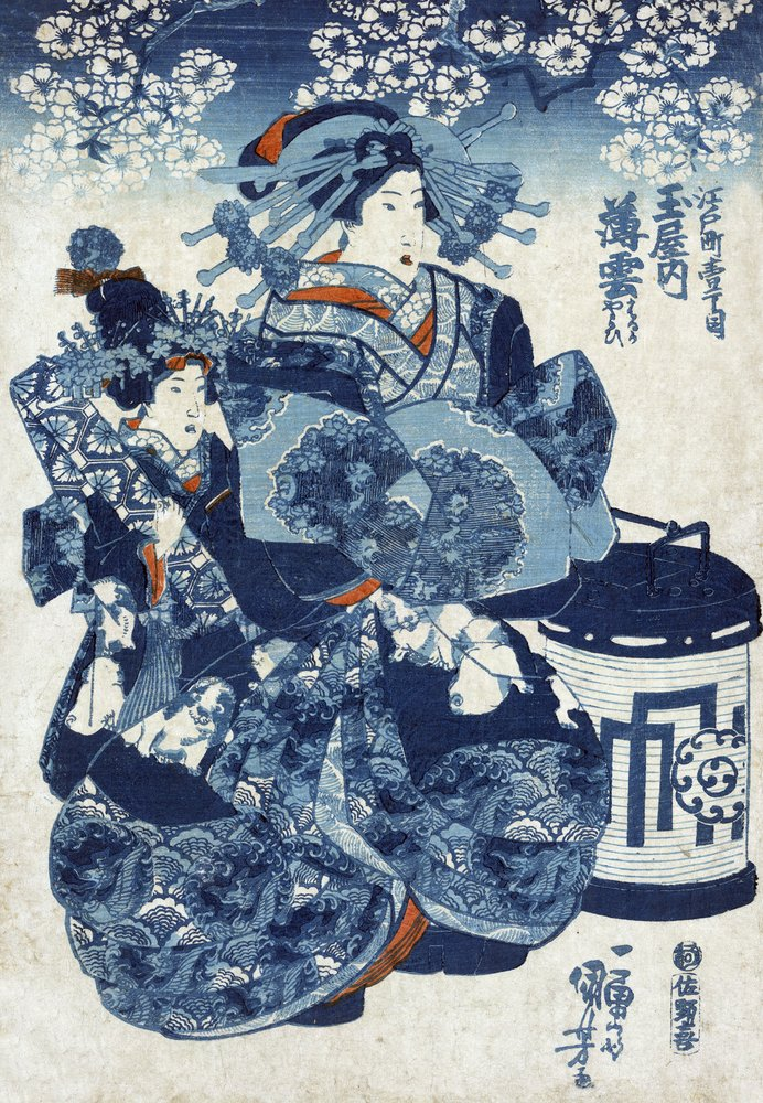 The Courtesan Usugumo日本の木材カット印刷 24 x 36 Giclee Print LANT-21306-24x36 B00QPZ36EQ 24 x 36 Giclee Print24 x 36 Giclee Print