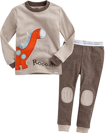 Pyjama-garnituren Sonderabschnitt Baby Pyjamas Jungen Mädchen 100% Baumwolle Cartoon Langen ärmeln Nachtwäsche 0-4 T Kinder Tier Pyjamas Sets Baby Baumwolle Nachtwäsche Tops Hose