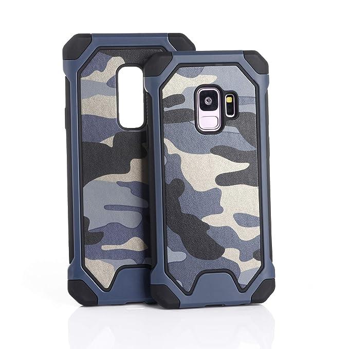 3en1 Funda para Samsung Galaxy A6/A6 Plus Camuflaje Militar Carcasa Ultra-Delgado Anti-Arañazos Caso Protectora Silicone Cover Funda Estuche ...