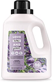 Love Home and Planet Laundry Detergent, Lavender & Argan Oil, 50 oz