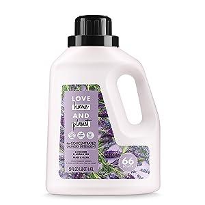Love Home and Planet Laundry Detergent, Lavender & Argan Oil, 50 oz