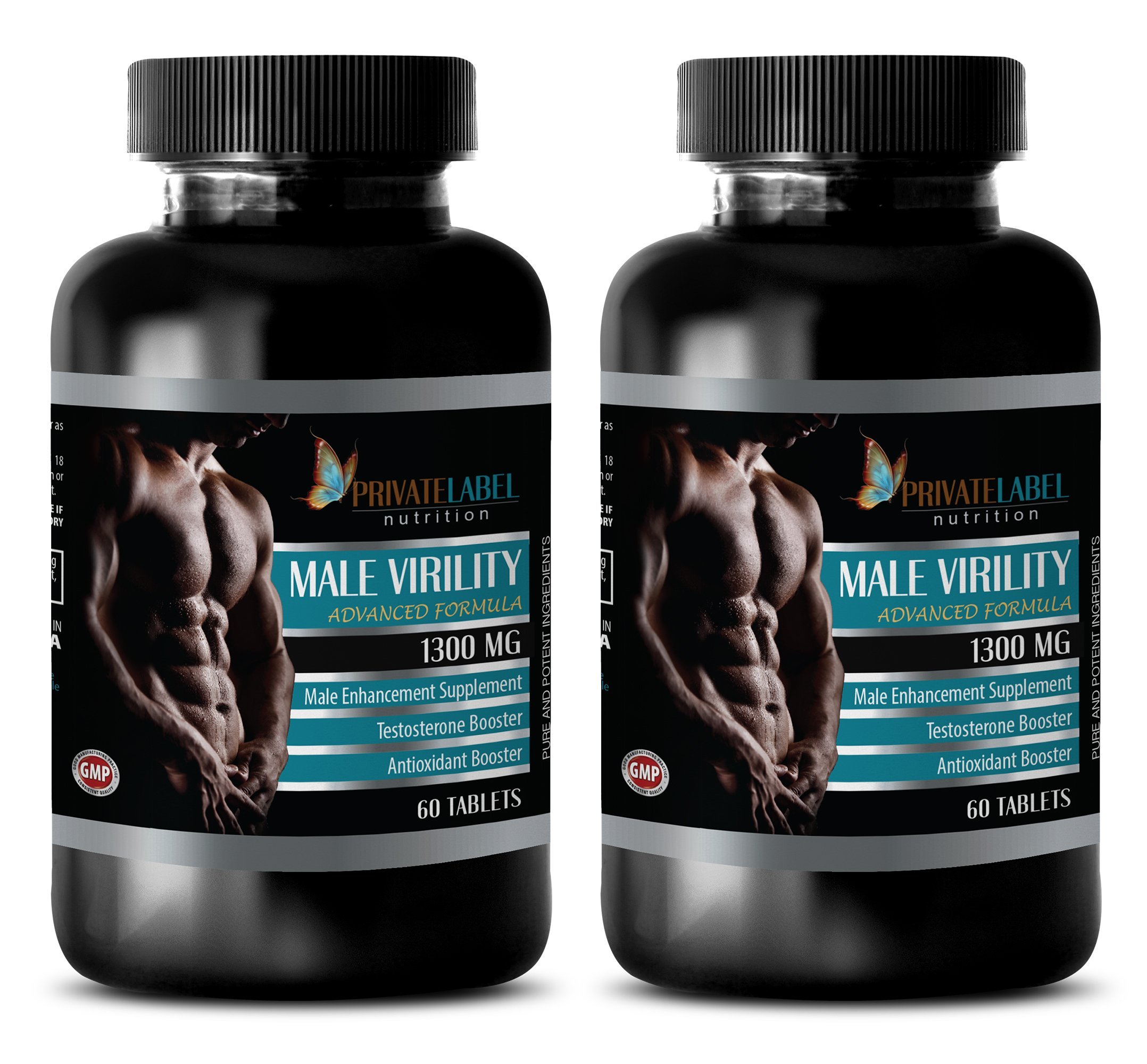 Male enhancing pills erection best seller - MALE VIRILITY 1300 Mg - ADVANCED FORMULA - MALE ENHANCEMENT SUPPLEMENT - maca for menopause - 2 Bottles (120 Tablets)