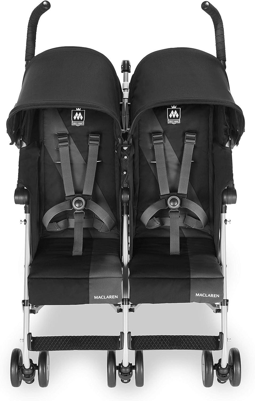 Passe les portes standards r/églage ind/épendant de chaque capote et si/ège inclinable Ultra l/ég/ère Poussette Maclaren Twin Triumph Accessoires inclus facile /à man/œuvrer compacte