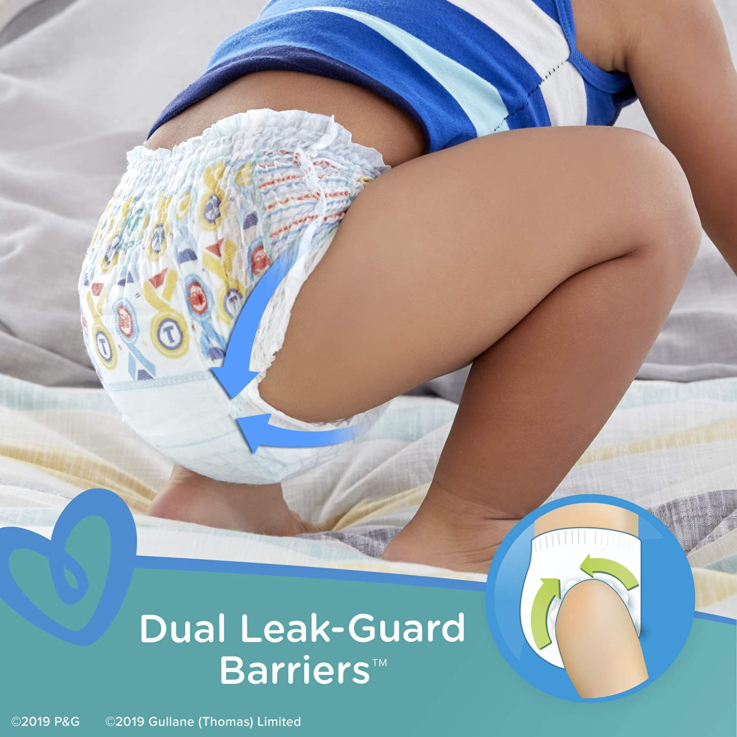 Pampers Easy Ups Pull On Disposable Potty Training Underwear for Boys, Size 4, 2T-3T (140 Count), ONE MONTH SUPPLY