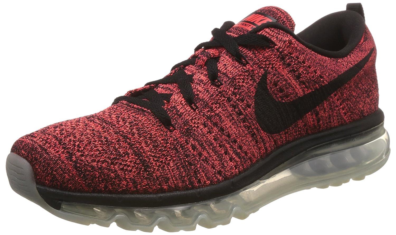 Noir   Noir   Rouge   Orange (Blk   Blk-brght Crmsn-hypr Orng) Nike Flyknit Max, Chaussures de Running Entrainement Homme 44 EU