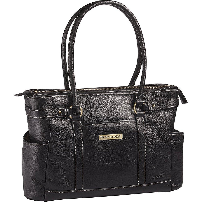 Clark & Mayfield Hawthorne Leather 17.3'' Laptop Handbag (Black)