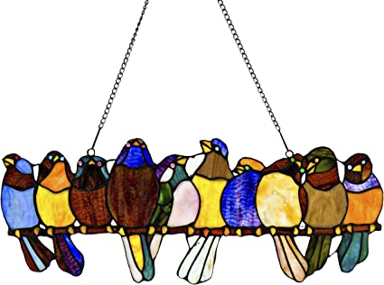 Fused Glass SALE Garden Birds Glass Curve Curved Fused Glass Birds