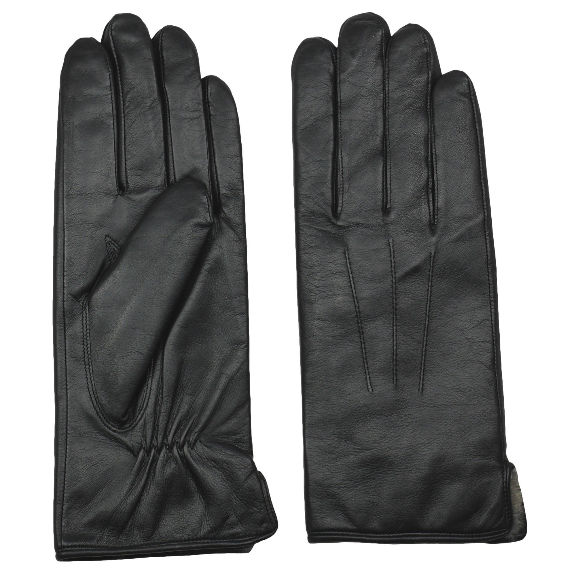 Men's Rabbit Fur Lined Sheepskin Leather Gloves by Arosa | Butter Soft Luxurious by AROSA (Image #2)