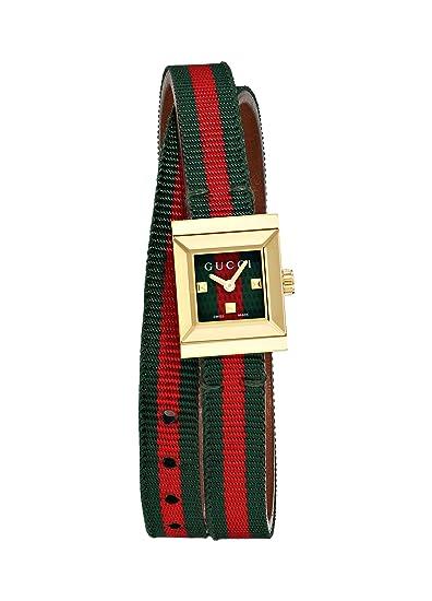 Gucci Reloj Analógico para Mujer de Cuarzo con Correa en Cuero YA128527