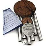 Memorial Wind Chime Large 28 inch Strongest of Storms Gift Pack In Sympathy Loss in Memory of Loved One by Weathered Raindrop