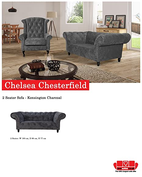 Lovesofas Chelsea Chesterfield 3 2 1 & WINGBACK sillón Suite ...
