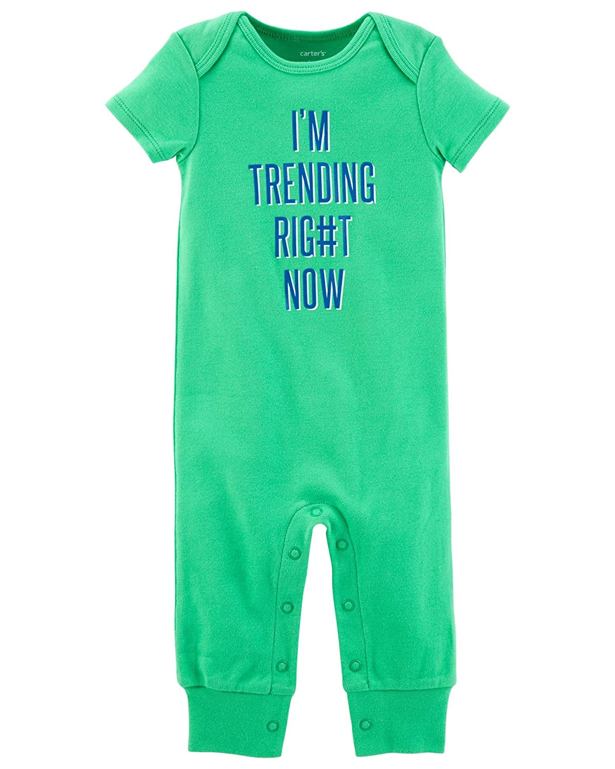 Carters Baby Boys Im Trending Right Now Jumpsuit 12 Months Green