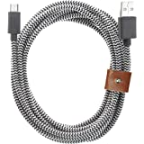Native Union BELT Cable XL for Android Devices - 10ft Micro-USB to USB Charging Cable with Strap for Android Devices (Zebra)