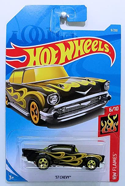 HOT WHEELS/'57 Chevy HW FLAMES NUOVO 2019