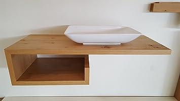 Waschtischplatte  Waschtisch Eiche , Waschtischplatte: Amazon.de: Baumarkt