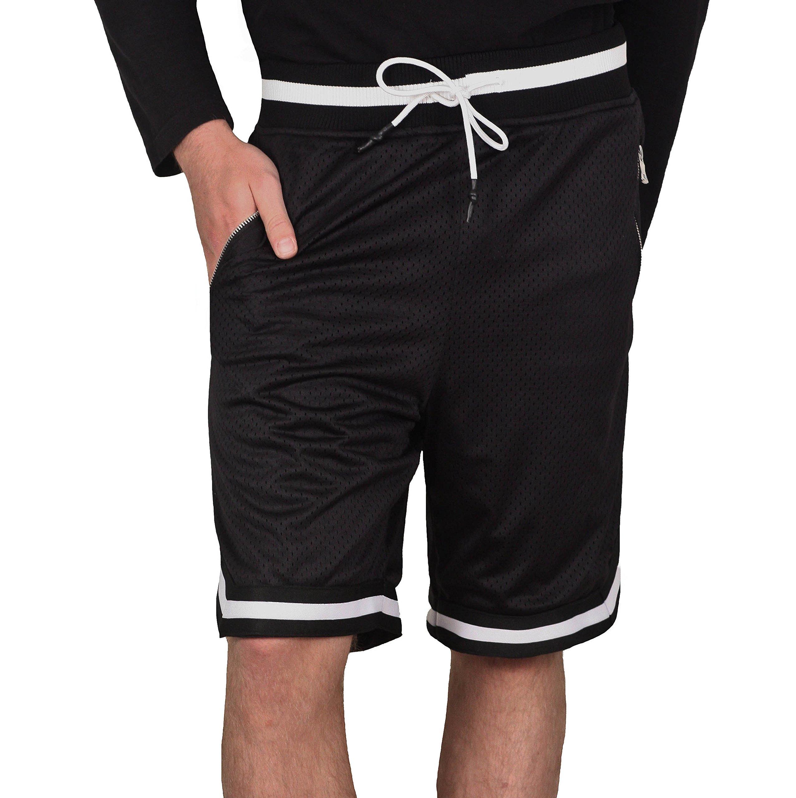 Jordan Craig Poly Mesh Shorts with Zipper Pockets