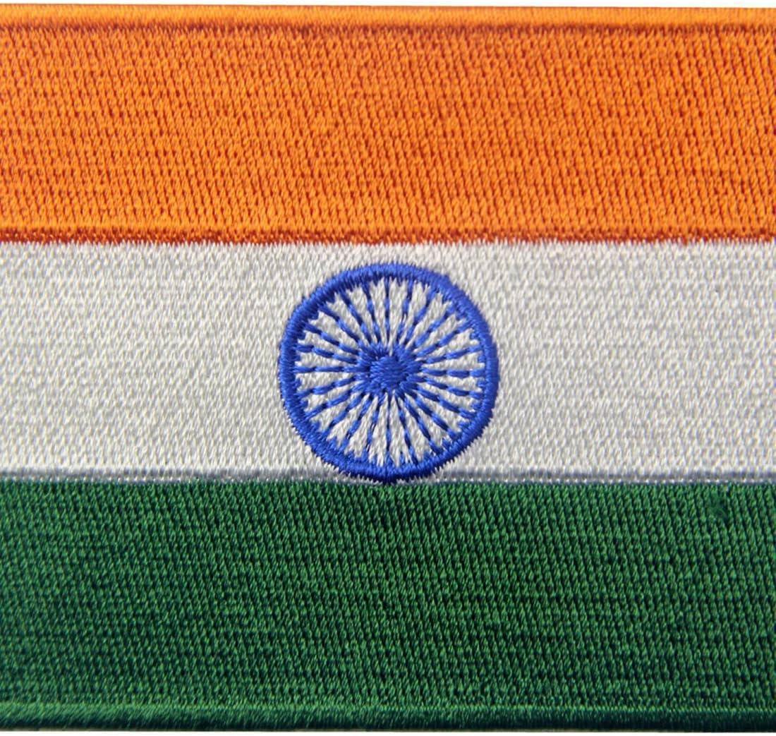 Bandera de la India Indio Parche Bordado de Aplicación con Plancha: Amazon.es: Hogar