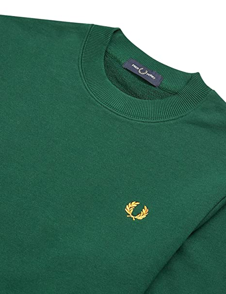 Fred Perry Sudadera Cuello Redondo Vivo en puño - Color - Verde ...