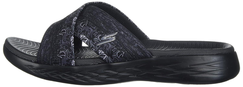 Skechers Sandal Women's on-The-Go 600-Monarch Slide Sandal Skechers B072T3X3F3 12 M US|Black 772a03