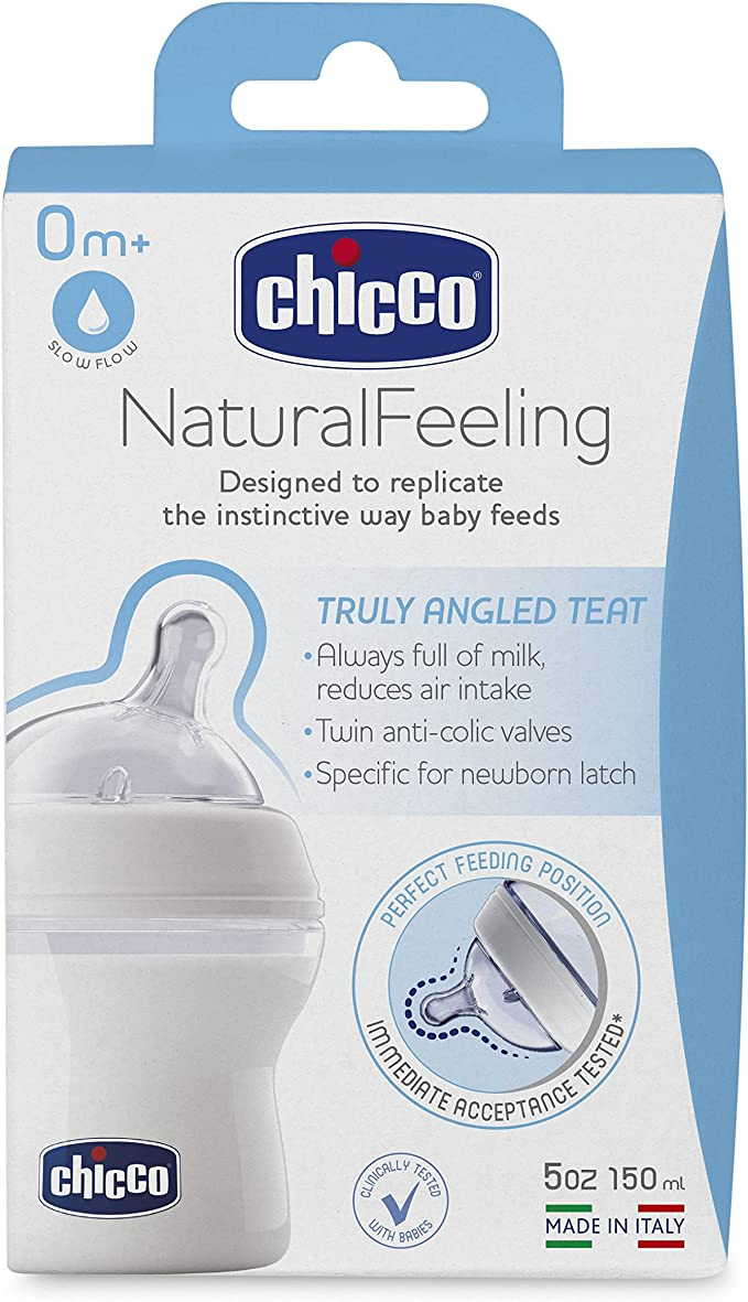 chicco Natural Feeling con tettarella a flusso lento confezione da 1 150/ml