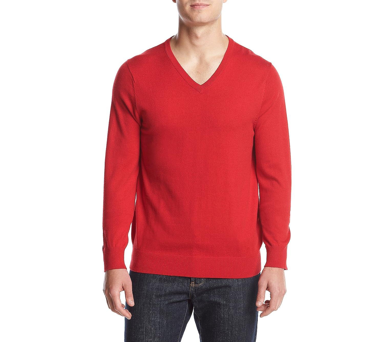 IZOD Mens Fieldhouse V-Neck Solid 12 Gauge Sweater