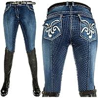 Hkm Reithose -Pasadena-Summer Denim Silikon-vollbesatz6100 Pantalones Unisex Adulto