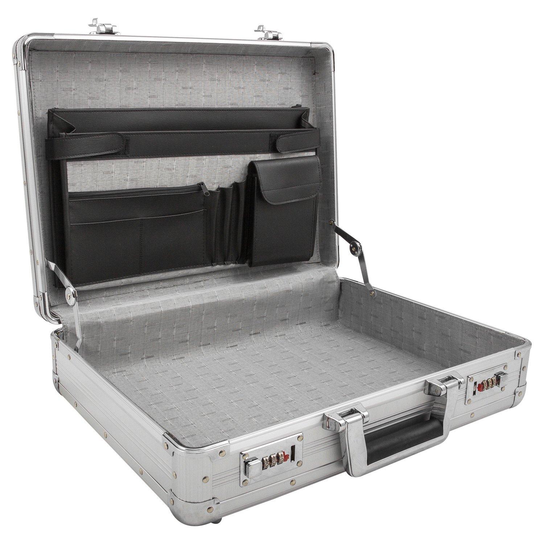 Attache-Koffer, Aktenkoffer mit Zahlenschloss aus Alu passend für DIN A4 Ordner - 201603 anndora