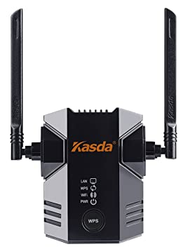 Kasda KW5583 11N WiFi Range Extender 300Mbps with 2 External Antennas WiFi Booster WiFi Repeater Networking Devices