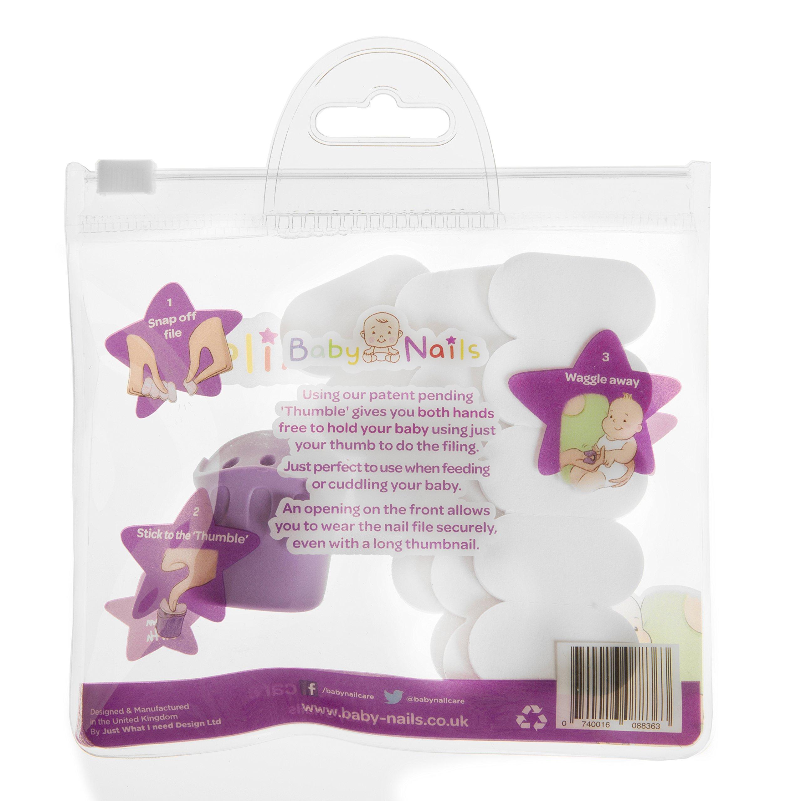 Baby Nails - Nagelpflege für Babys I Handfreies Babypflege-Set für Neugeborene ab 3 Monate I Geschenkidee für werdende Mütter I Standard Pack – 15 Einwegfeilen