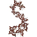 Rusty Metal Butterfly Swarm Wall Art Garden or Home Ornament