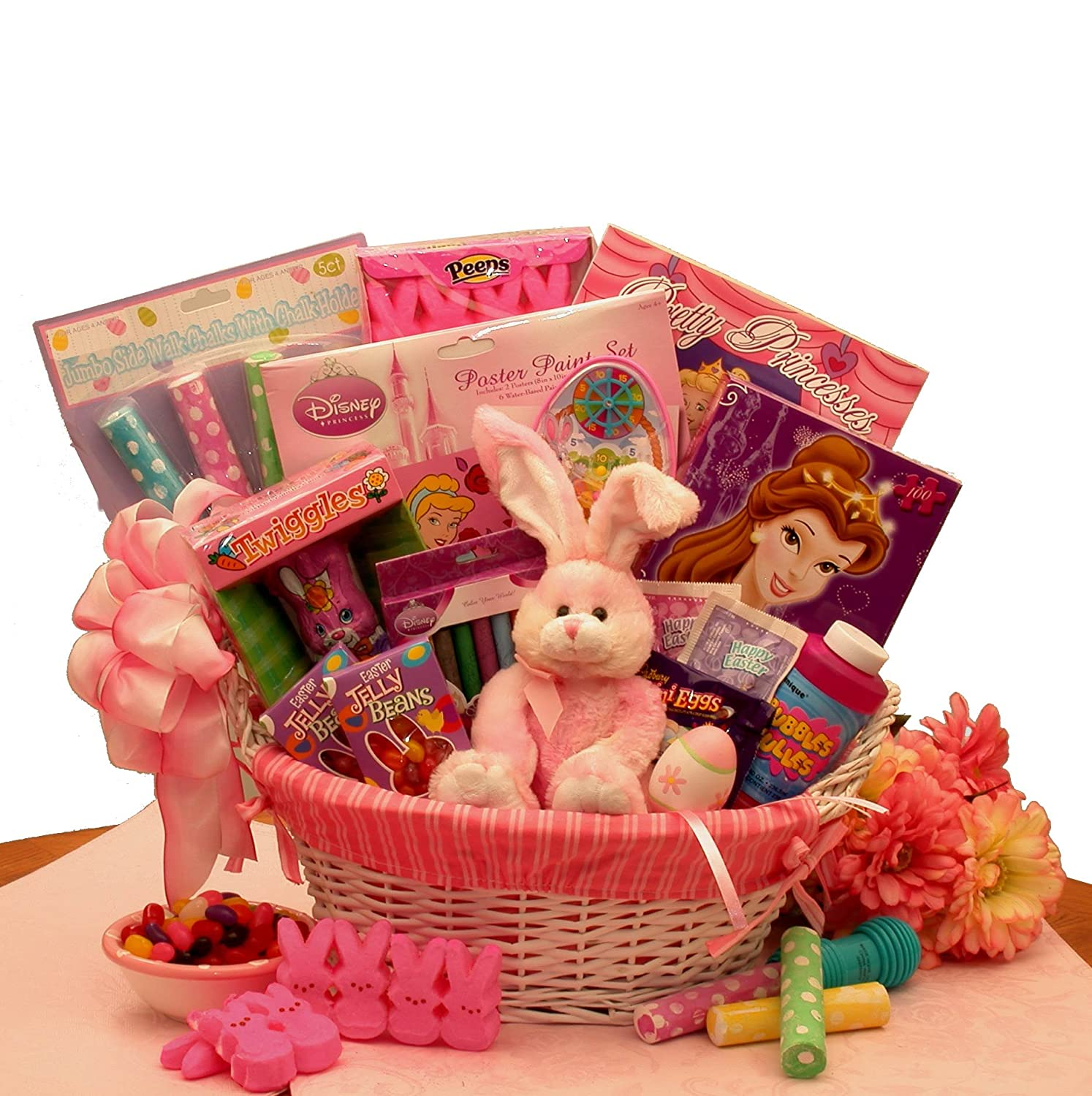 My Little Princess Disney Easter Gift Basket Just For Girls with Easter Chocolates and Easter Activities