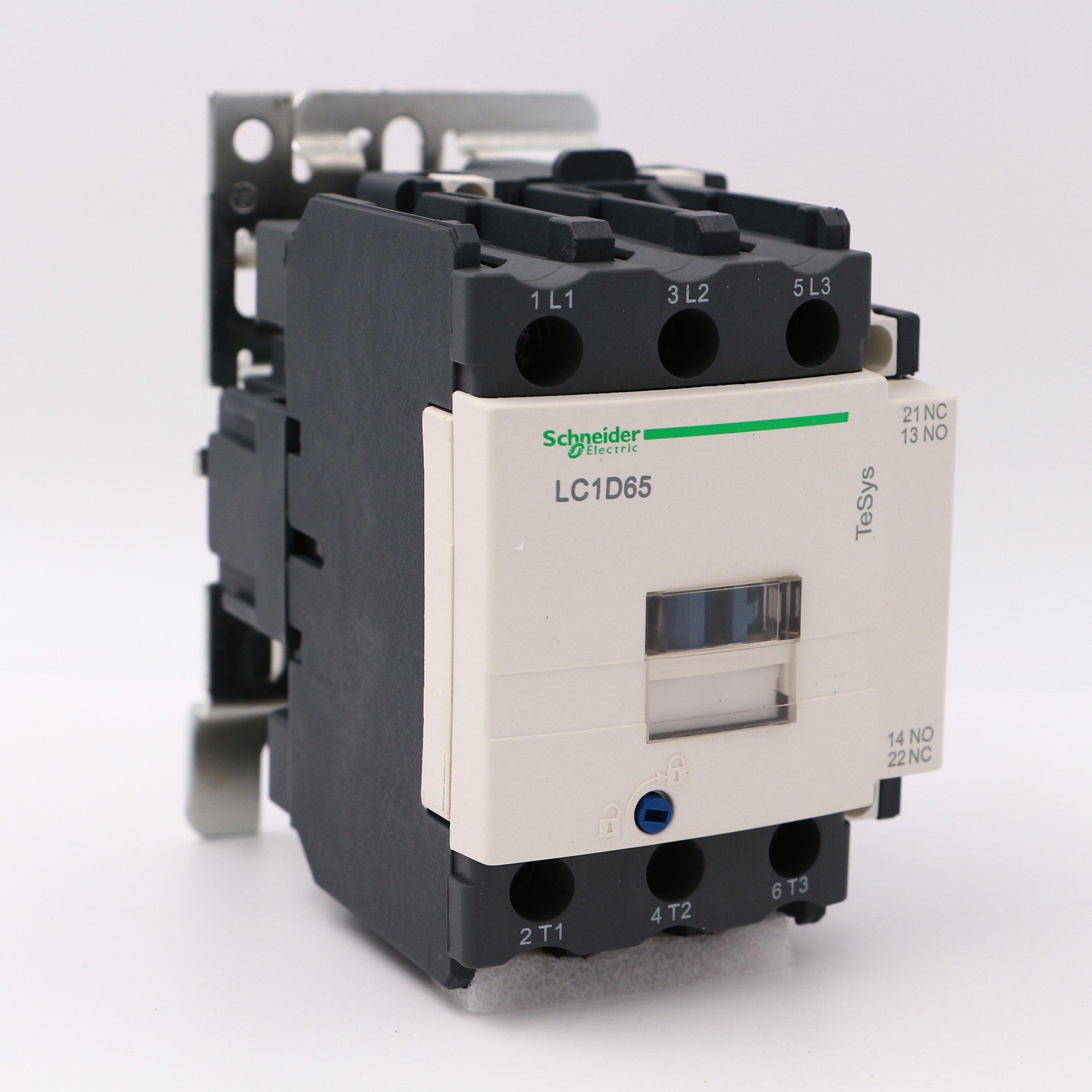 LC1D65M7 NEW SCHNEIDER AC Contactor LC1-D65M7 3P 65A 220V AC Coil