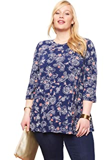 693d86ed9df Jessica London Women's Plus Size Refined Boatneck Tunic with ...