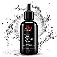 THE REAL WOMAN Professional Anti-Aging Vitamin C Serum 50ml. Vitamin C 20% + Hyaluronic Acid & Vitamin E. Under Eye Dark Circles, Anti Aging, Skin Fairness & Brightening. (PACK OF 1)